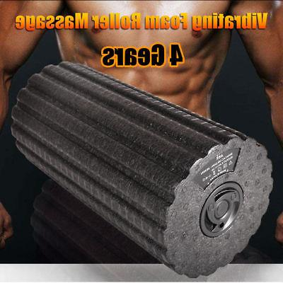 electric yoga gym fitness vibrating foam roller