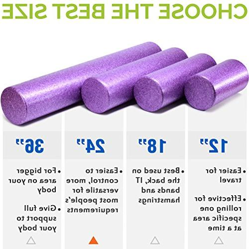 Yes4All Exercise Roller – Extra Firm High Density Foam Roller – Best for Flexibility and Rehab Exercises