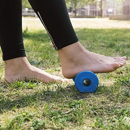Navaris Foam Foot Massage Roller - Muscle Relief for Fasciitis - Soothe Pain Tightness in & Arch