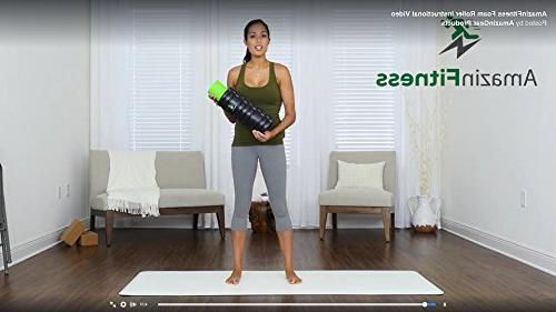 AmazinFitness Foam Roller 2 in 1 PLUS BAG AND Density Myofascial Trigger Massage, Perfect for Relief, Yoga Sports.