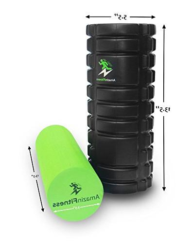 AmazinFitness in PLUS FREE BAG Density EVA Textured for Myofascial Trigger Perfect for Back Pain Relief, after Sports.