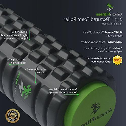 AmazinFitness in 1 PLUS BAG High Density EVA Textured for Recovery Perfect Pain Relief, Sports.