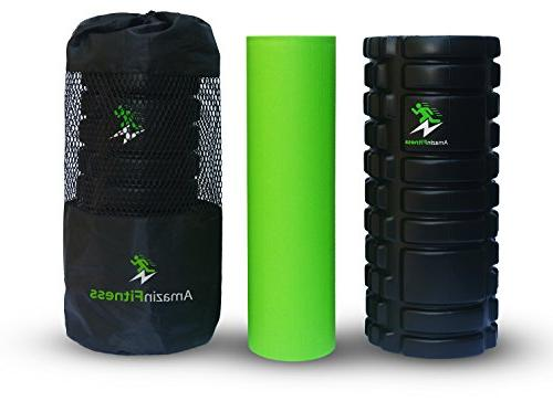 AmazinFitness in Density Grid for Recovery Myofascial Trigger Massage, Perfect for Relief, Sports.