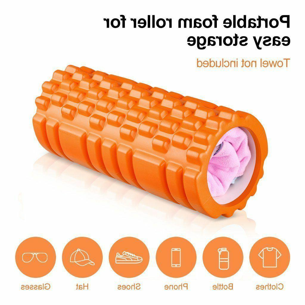 "ENKEEO Foam 13"" x 6"" Grid Design Muscle Rollers for Tissue"
