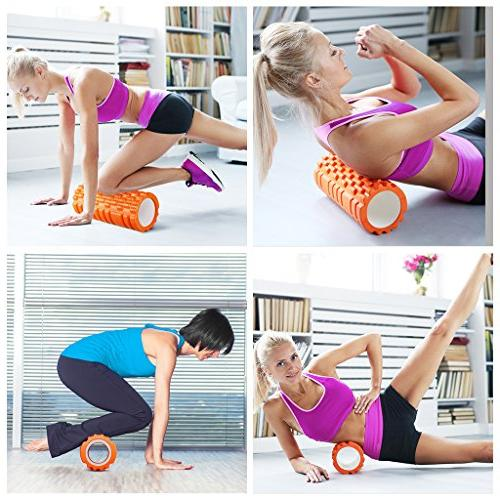 "ENKEEO Roller x 6"" Grid for Release, Sports Massage Recovery, Point Pilates &"