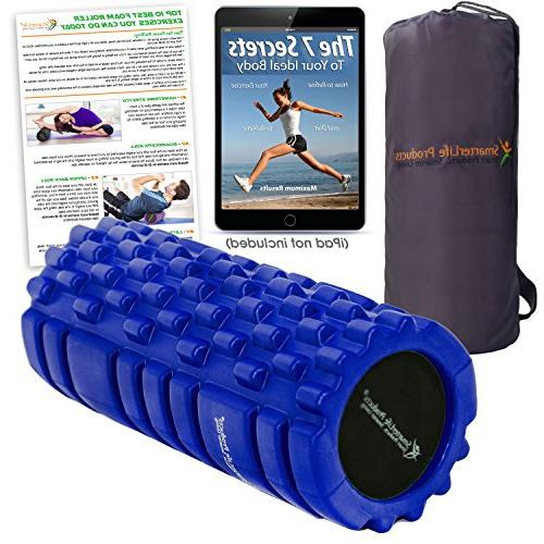 Foam Massager for Trigger by SmarterLife - Rollers and Workout, Exercise, Recovery, Yoga, and
