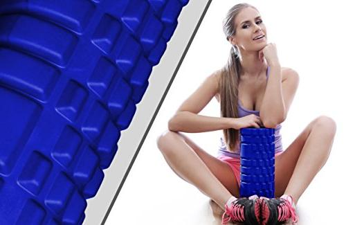 Foam Roller Massager Trigger Point SmarterLife Massage for Muscles, and Post Workout, Recovery, Yoga, and