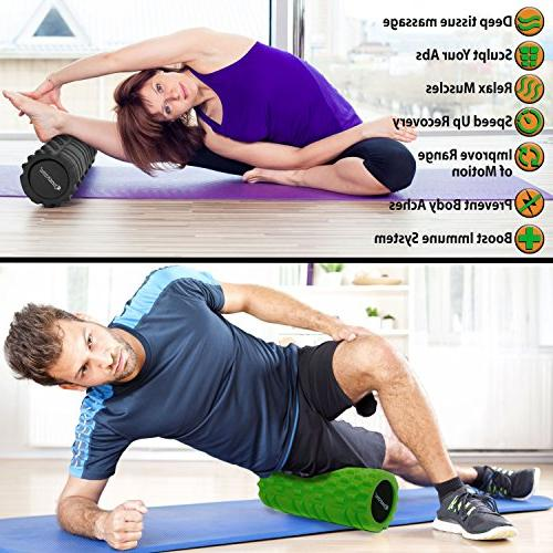 Foam Roller Trigger SmarterLife - Massage for and Post Workout, Recovery, Yoga, and Running