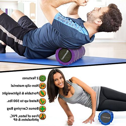Foam Roller for Trigger Therapy SmarterLife for and Post Recovery, Cycling and