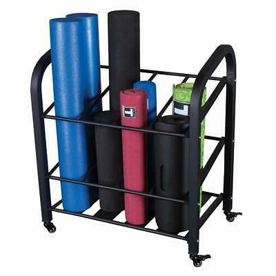 Body Solid Foam Roller And Yoga Mat Storage Cart