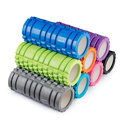 "SYOURSELF Foam Roller Muscle 5.5"", EVA, Tissue, Myofascial Physical for Yoga, Carry Bag"