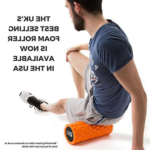 Fit-Nation Foam Roller Muscle with Book, Strong Solid Deep Pain in Your Aching Body. Ideal For