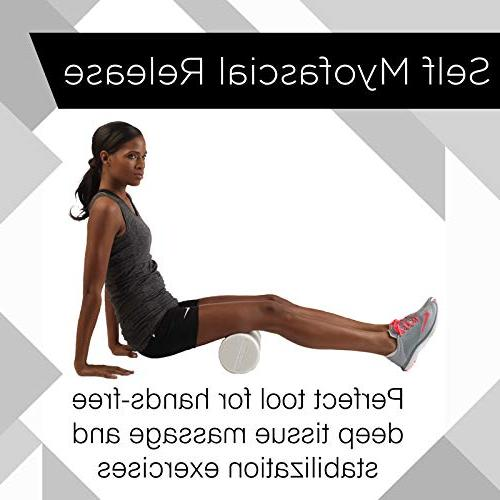 TheraBand Long High Density Foam Roller Post-Workout Recovery & Pre-Workout Warm-Up, Roll Out Muscle Soreness,