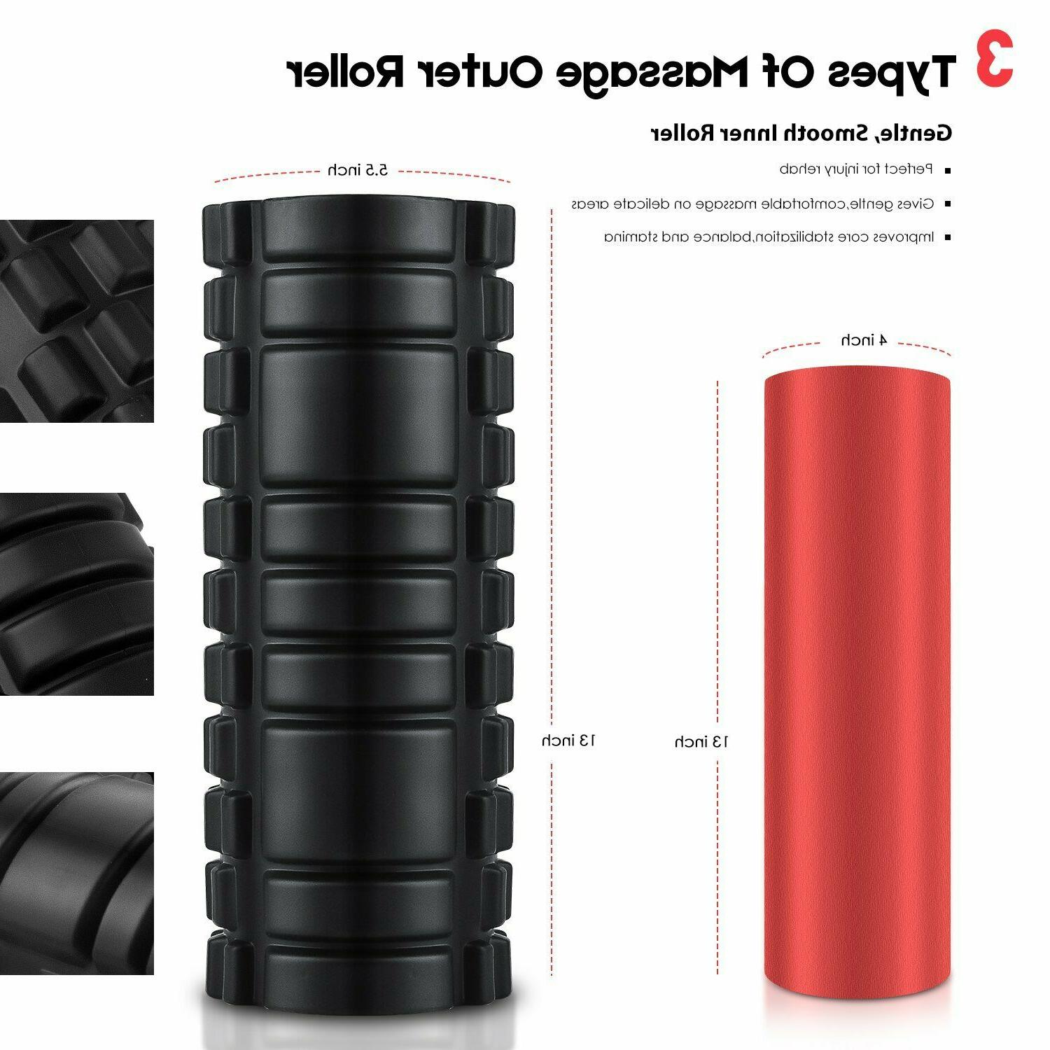 HIGH DENSITY FOAM ROLLER Back Deep Massage Muscle Therapy