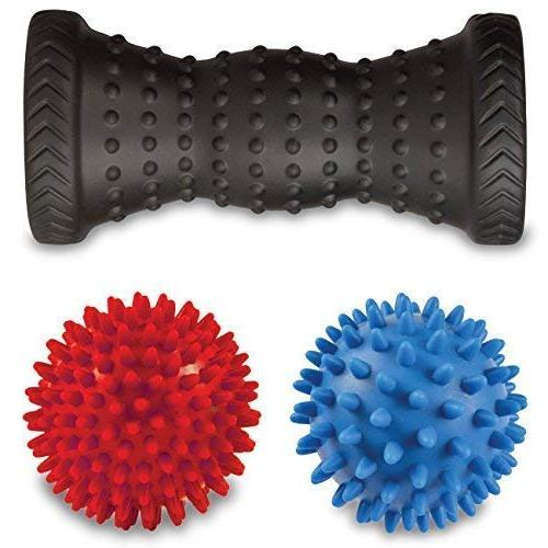 Foot Spiky - Massage Tool for Plantar for Point Acupressure Reflexology with Guide