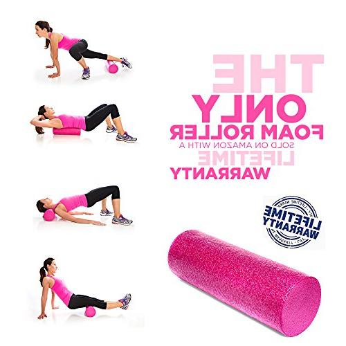 Product Inc Maintains Shape After Moderate to Heavy Body Foam Roller with Design Soothes,