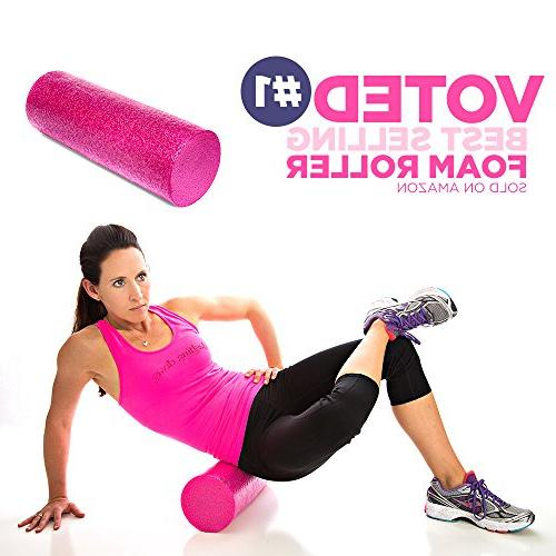 Product Stop, Maintains Shape Heavy Body Types. Pink Foam Roller with Trigger-Point Design - Massages, Soothes, Refreshes and Invigorates