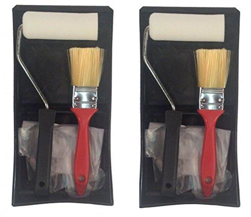 paint kits set tray roller