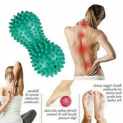 Peanut Shape Spiky Foot Roller Trigger Point Relief Ship