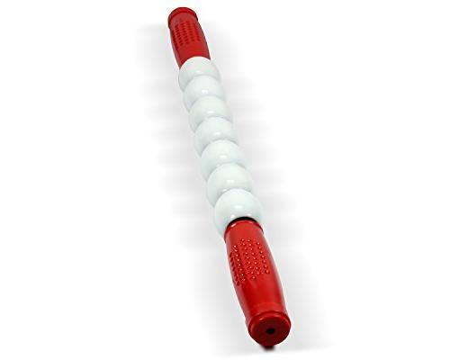 Yes4All Massage Stick Muscle Roller Tool Sports Red / White - ²SDKLZ