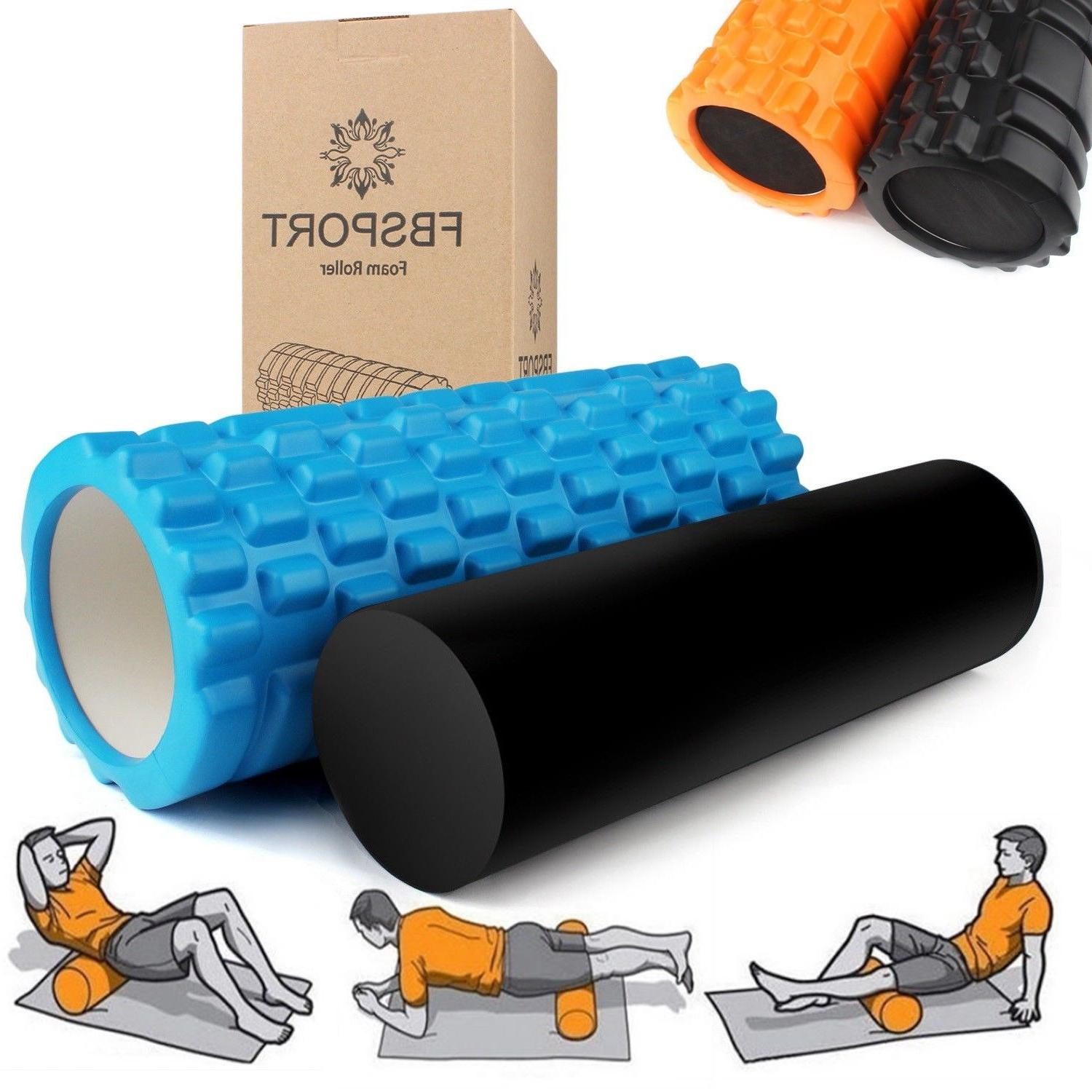 US Extra Firm High Density Foam Roller Muscle Back Pain Trig