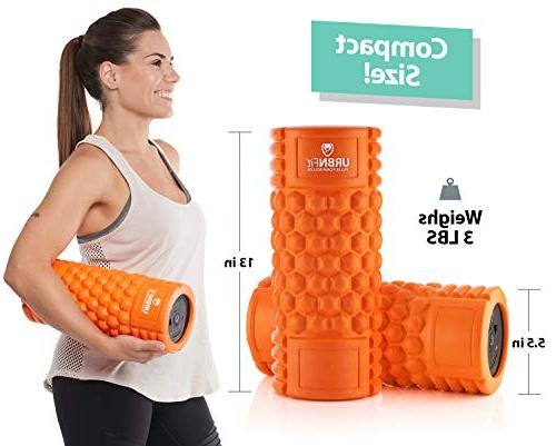 Vibrating Roller 5-Speed for Recovery, Deep Tissue Trigger Point Therapy - 5 Levels from Low To Intensity -Includes Stretching Guide