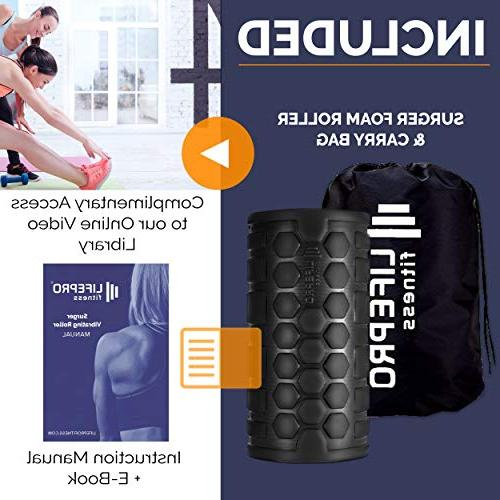 LifePro 4-Speed Vibrating Roller - Vibrating Roller Recovery, Mobility Training - Vibrant Massage for Trigger Point