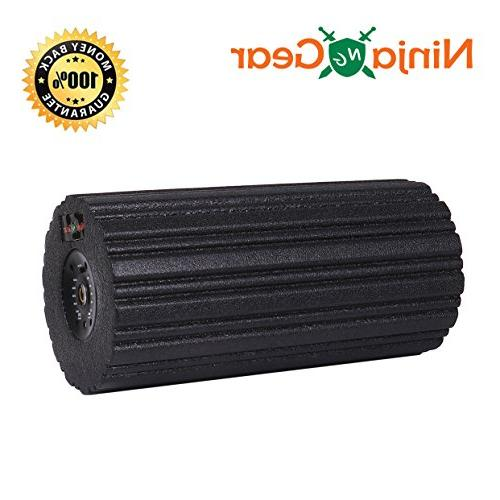 Ninja 5-Speed Vibrating Roller - Rechargeable Fast Recovery, Relieve Muscle Point Deep Electric Massager