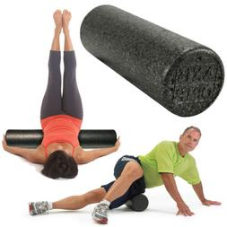 OPTP Black AXIS Firm High Density Foam Roller Stretch, Yoga,