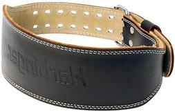 Harbinger Padded Leather Contoured Weightlifting Belt with S