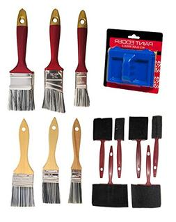 Set of 13 Painting Set With 3 Wood Handle & 3 Poly Handle &
