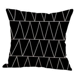 Pillow cover New 2018 Fashion Black and White Pattern Printe