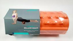 Gaiam Restore Deep Tissue Muscle Massage Foam Roller, Orange