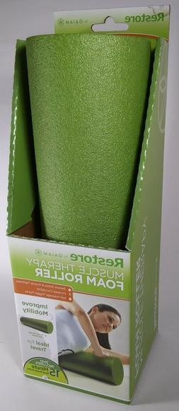 """Gaiam Restore Muscle Therapy 18"""" Foam Roller with DVD Includ"""