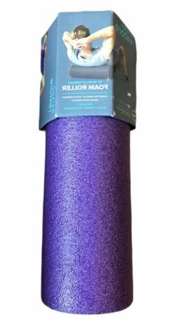 "Gaiam Restore Muscle Therapy 18"" Foam Roller Purple NEW"