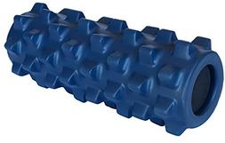"RumbleRoller, 5"" x 12"", medium-firm, blue"