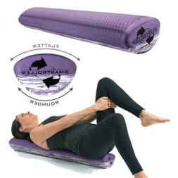 SMARTROLLER Two Sided Foam Roller - FLAT AND ROUND, Great Fo