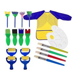18pcs Toddlers Early Learning Painting Tools - Art Smock Apr