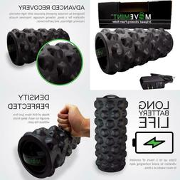 Movemint Vibrating Foam Roller - Rechargeable, High-Intensit